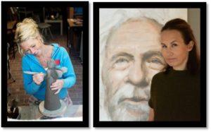 Wine & paint med kunstnerne Elisabeth og Gry @ Sjøholmen